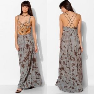 Ecote Jovela Embroidered Tie Dye Boho Maxi Dress